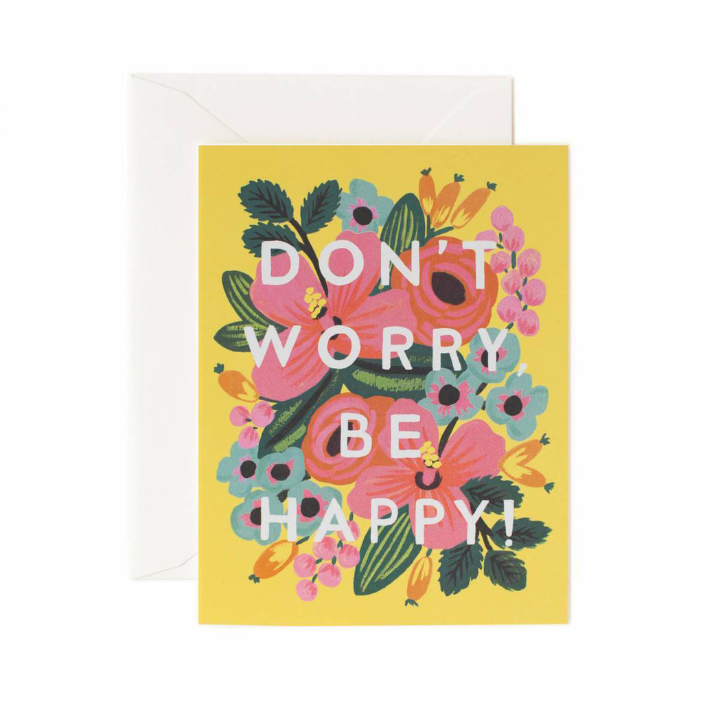 Rifle Paper Co. Don't Worry Be Happy Card