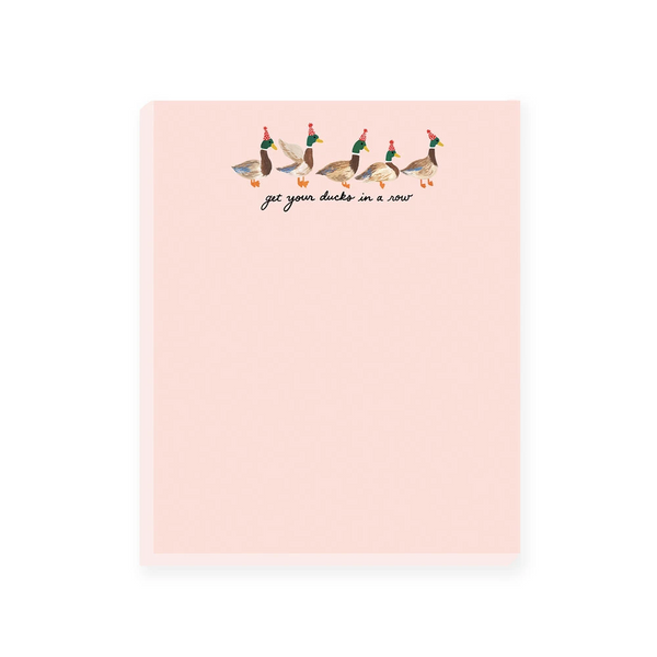 Slightly Stationery Get Your Ducks In A Row Notepad