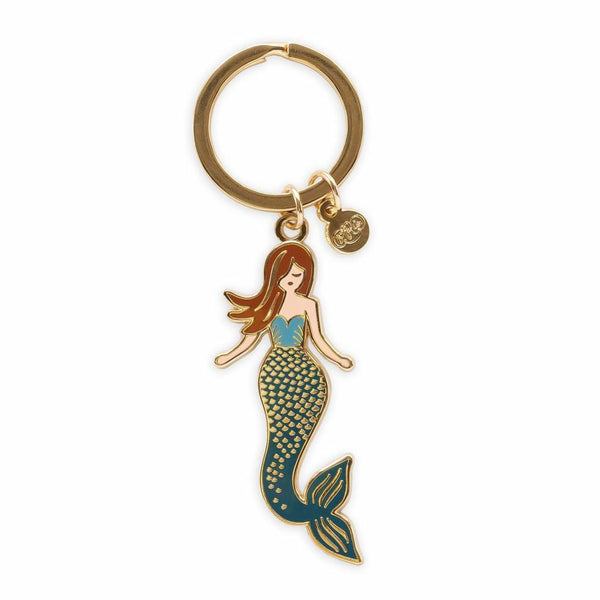 Rifle Paper Co. Mermaid Enamel Keychain