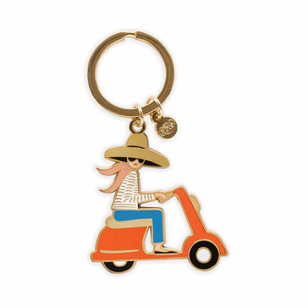Rifle Paper Co. Scooter Enamel Keychain