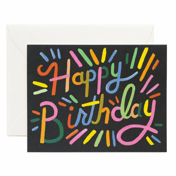 Rifle Paper Co. Fireworks Birthday Card