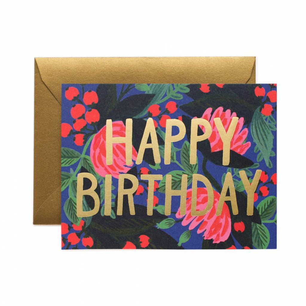 Rifle Paper Co. Floral Foil Birthday Card