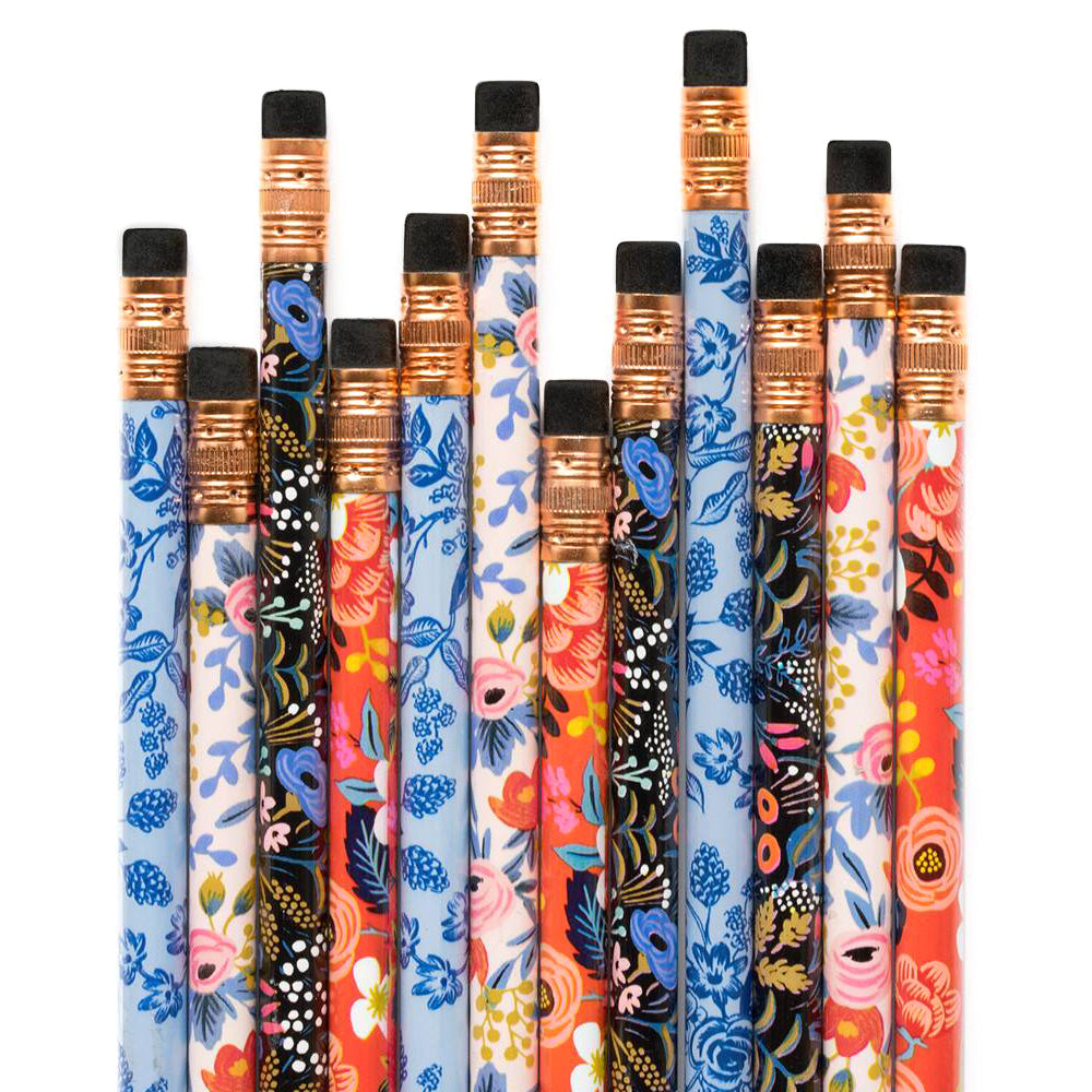 Rifle Paper Co. Writing Pencil Set Floral (Box of 12)
