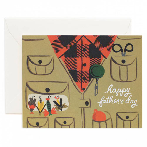 Rifle Paper Co. Father's Day Fly Fishing Card