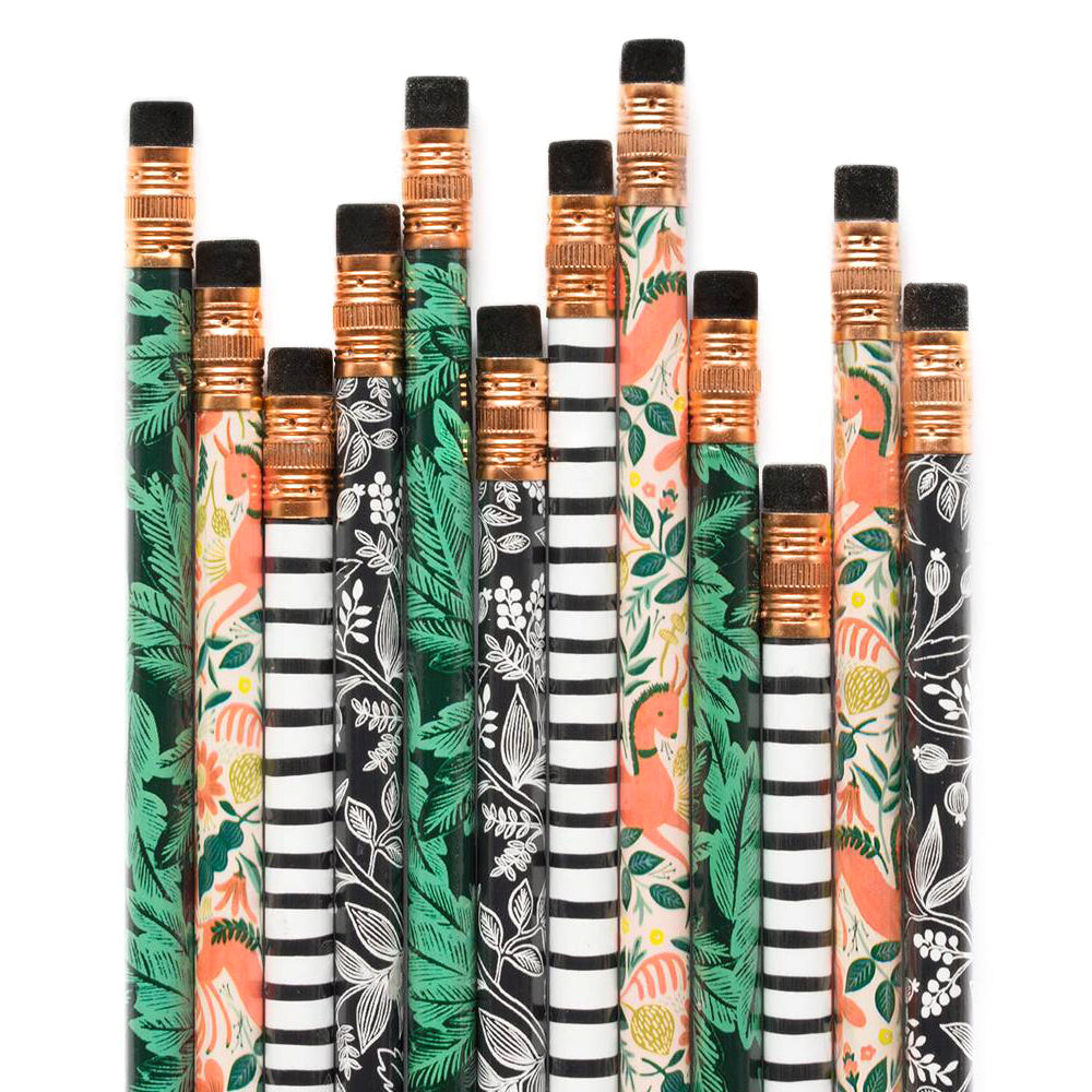 Rifle Paper Co. Writing Pencil Set Folk (Box of 12)