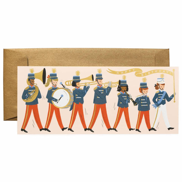 Rifle Paper Co. Marching Band Cheer Birthday Card