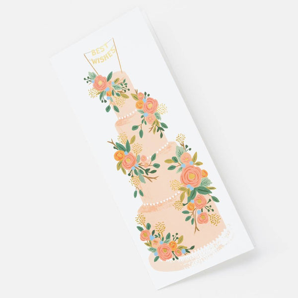 Rifle Paper Co. Tall Wedding Cake Card