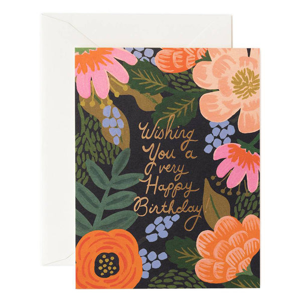 Rifle Paper Co. Bordeaux Birthday Card