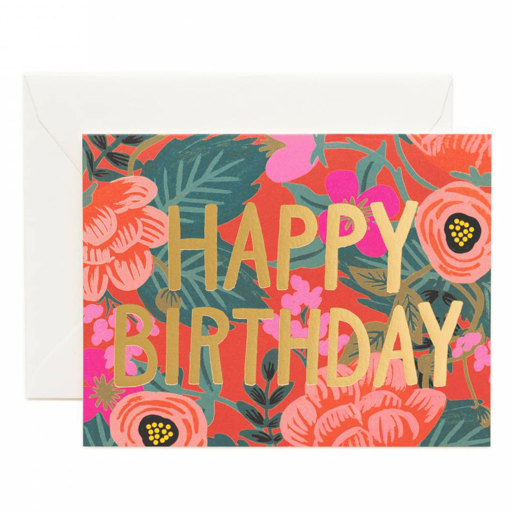 Rifle Paper Co. Poppy Birthday Card