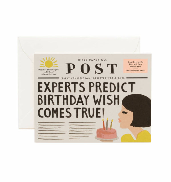 Rifle Paper Co. Breaking News Birthday Card