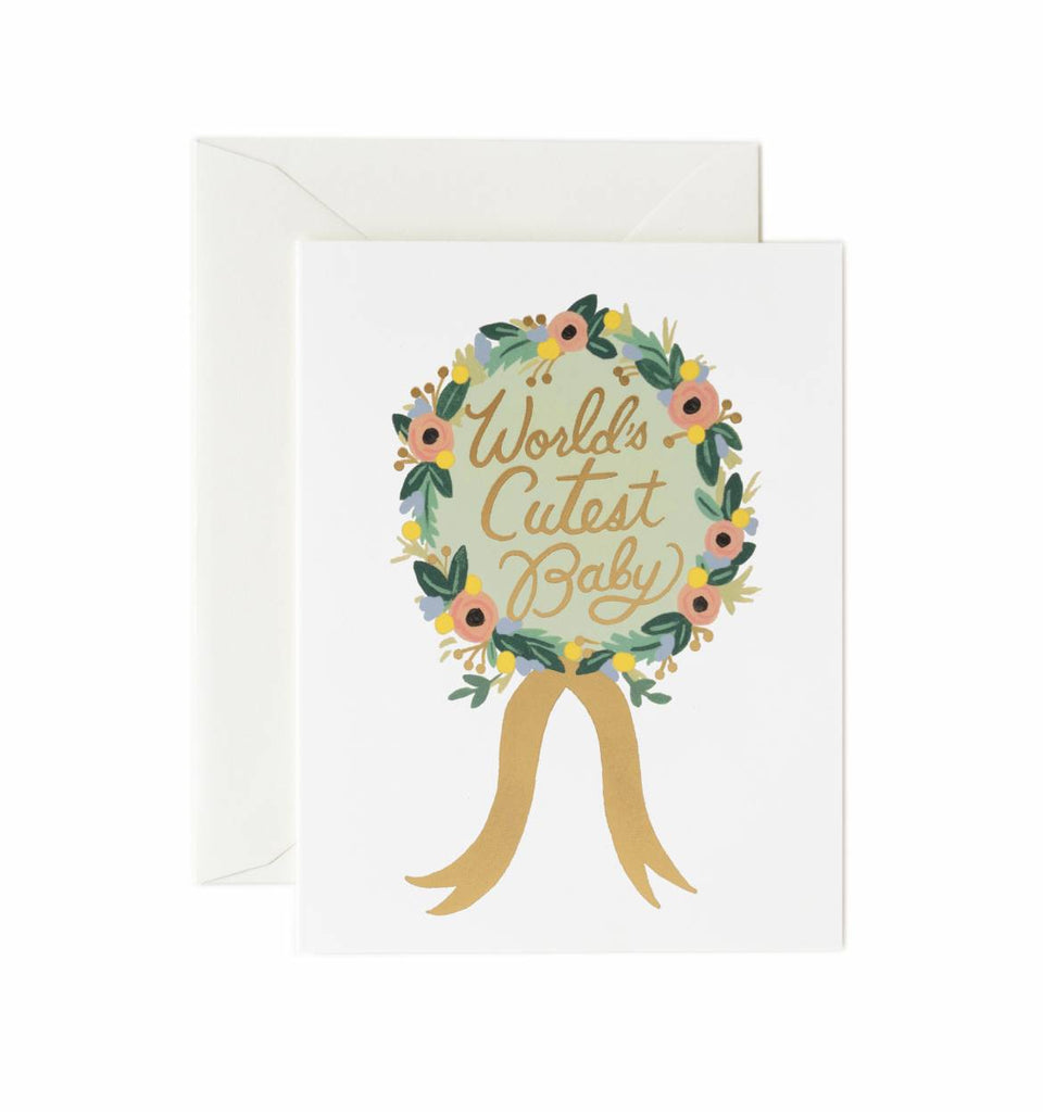 Rifle Paper Co. World's Cutest Baby Card