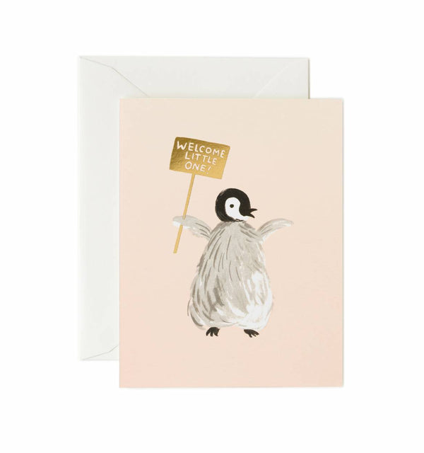 Rifle Paper Co. Welcome Penguin Card