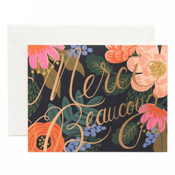 Rifle Paper Co. Bordeaux Thanks Card SET