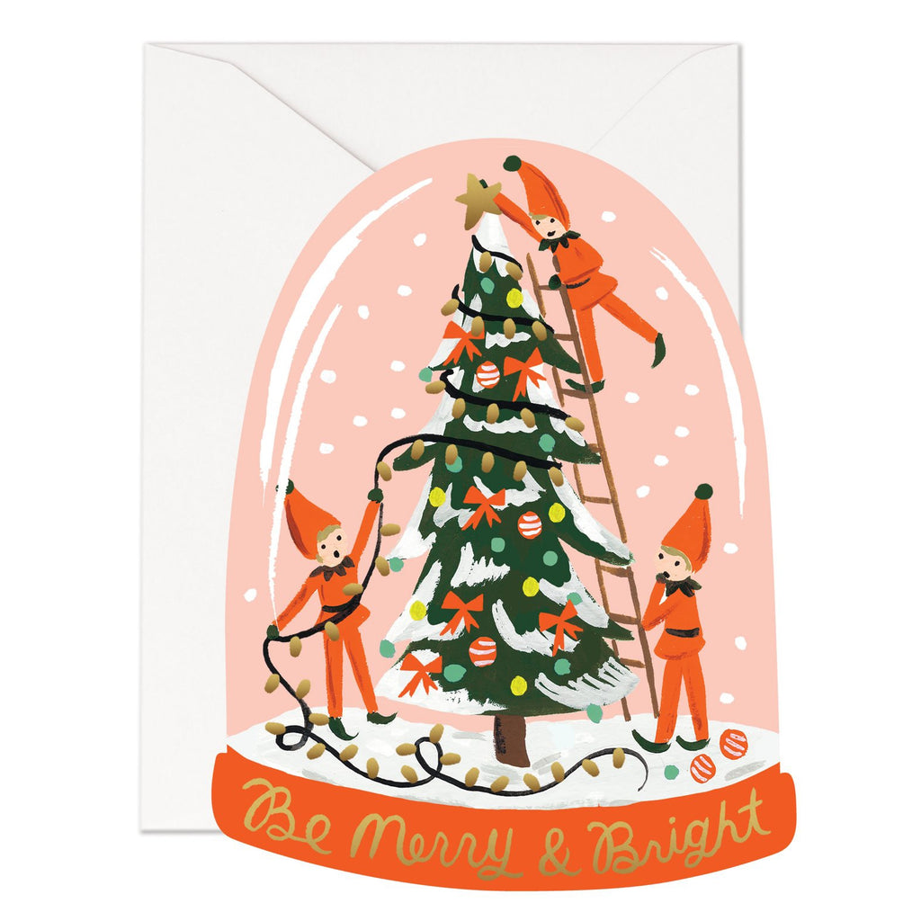 Rifle Paper Co. Merry Elves - Flat Note Christmas Card