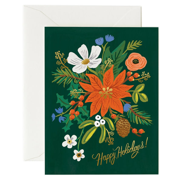 Rifle Paper Co. Holiday Bouquet Christmas Card