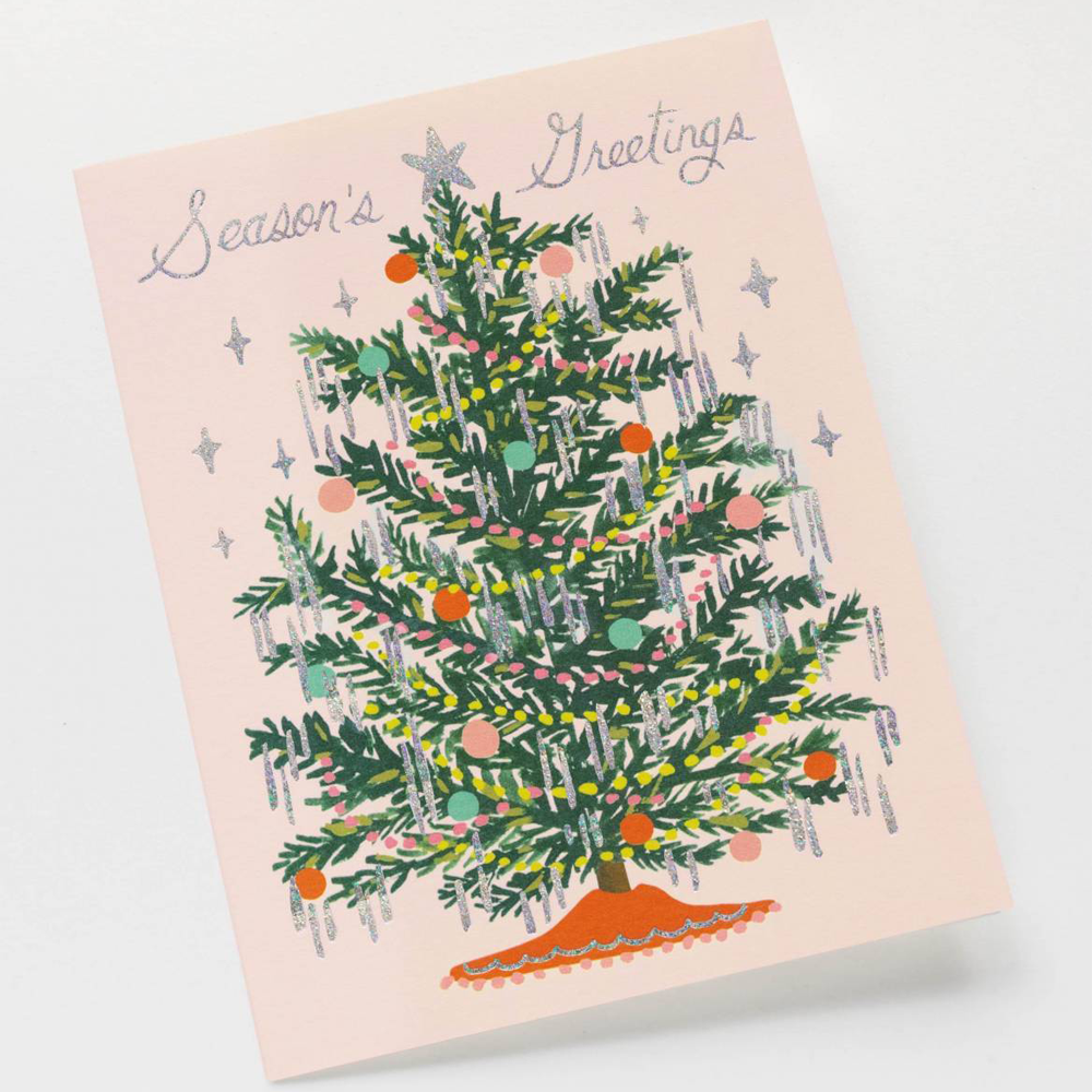 Rifle Paper Co. Tinsel Tree Christmas Card SET