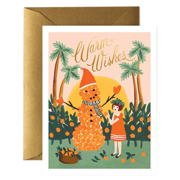 Rifle Paper Co. Warm Wishes Snowman Christmas Card