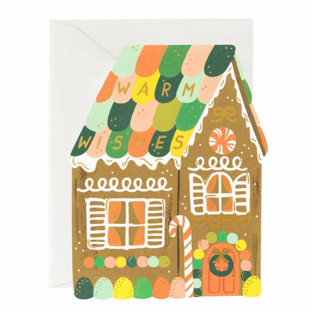Rifle Paper Co. Gingerbread House Flat Card SET