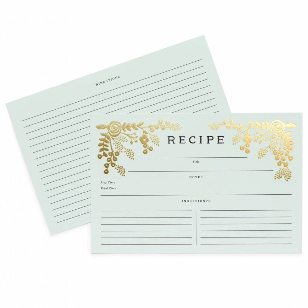 Rifle Paper Co. Recipe Cards (Pack of 12) - Golden Garden