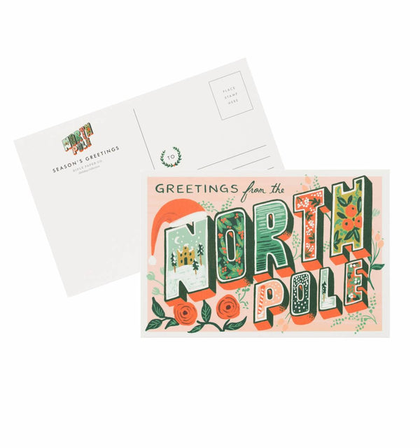 Rifle Paper Co. Greetings From The North Pole Postcard Set