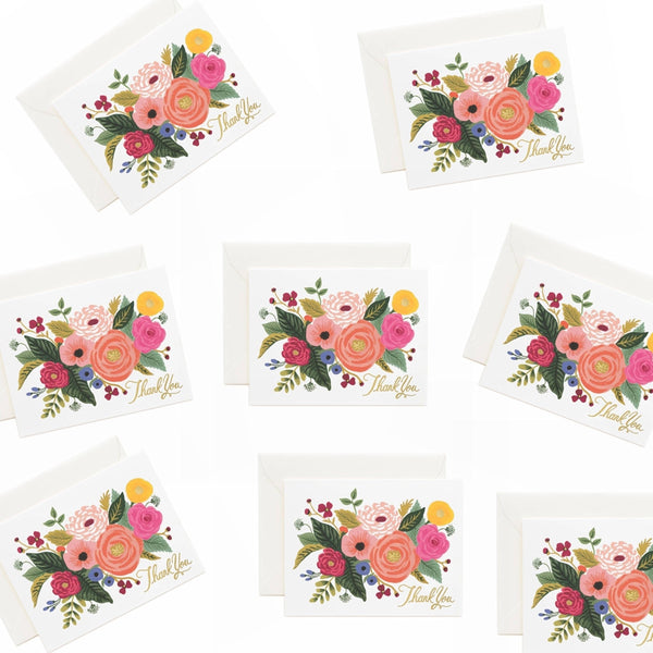 Rifle Paper Co. Juliet Rose Thank You CARD SET