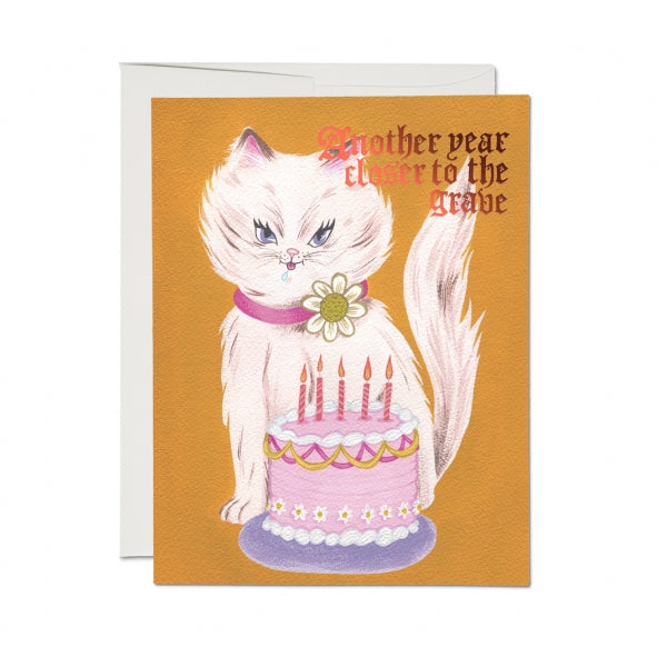 Red Cap Cards Kitty & Cake Card