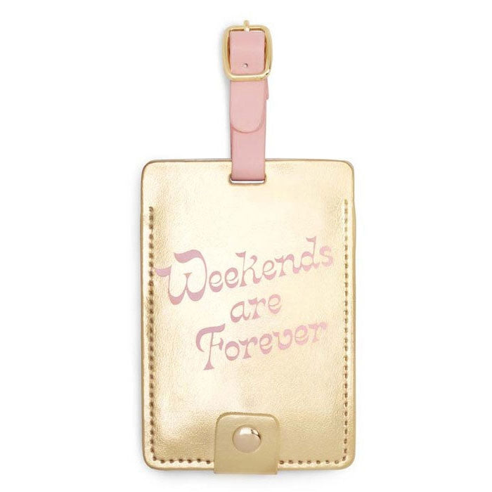 Ban.do Luggage Tag - Weekends Are Forever