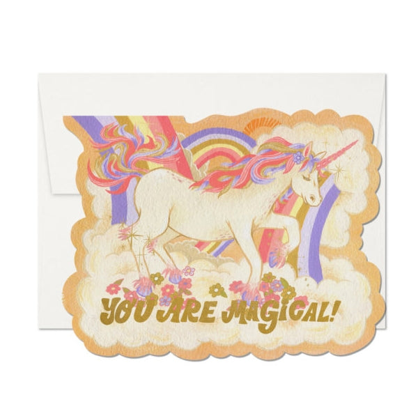 Red Cap Cards Magical Unicorn Card