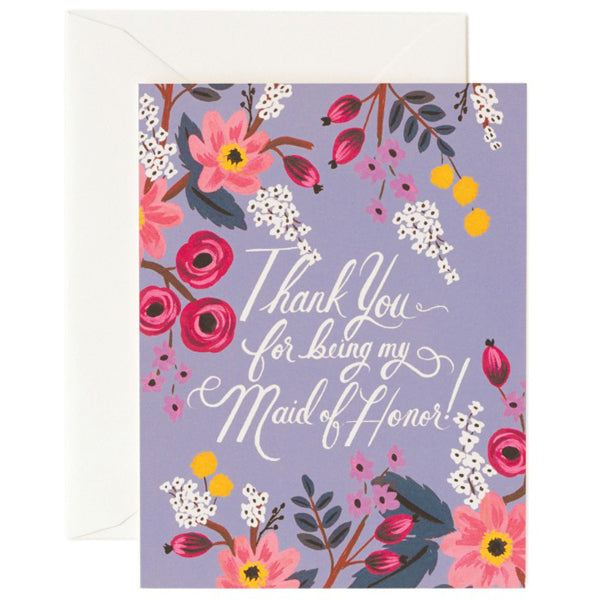 Rifle Paper Co. Thank You Maid of Honour Card