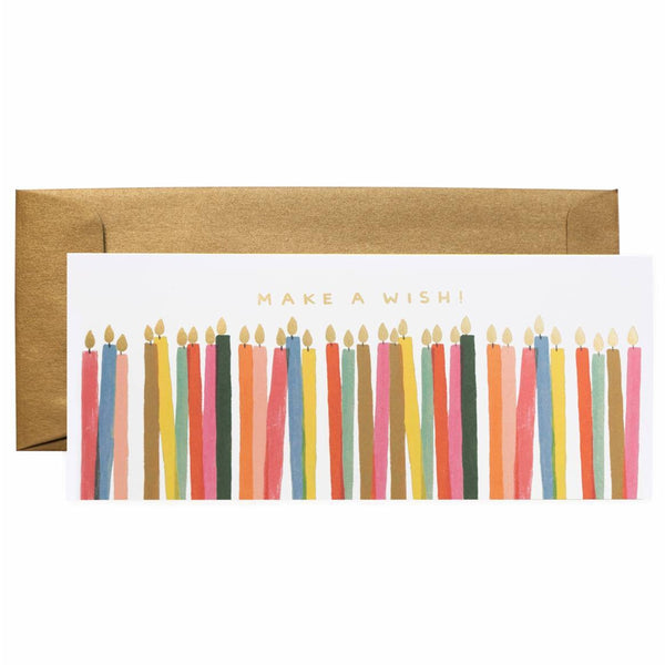 Rifle Paper Co. Make A Wish Candles No.10 Birthday Card