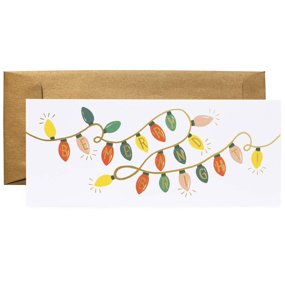 Rifle Paper Co. Be Merry And Bright Lights Christmas Card