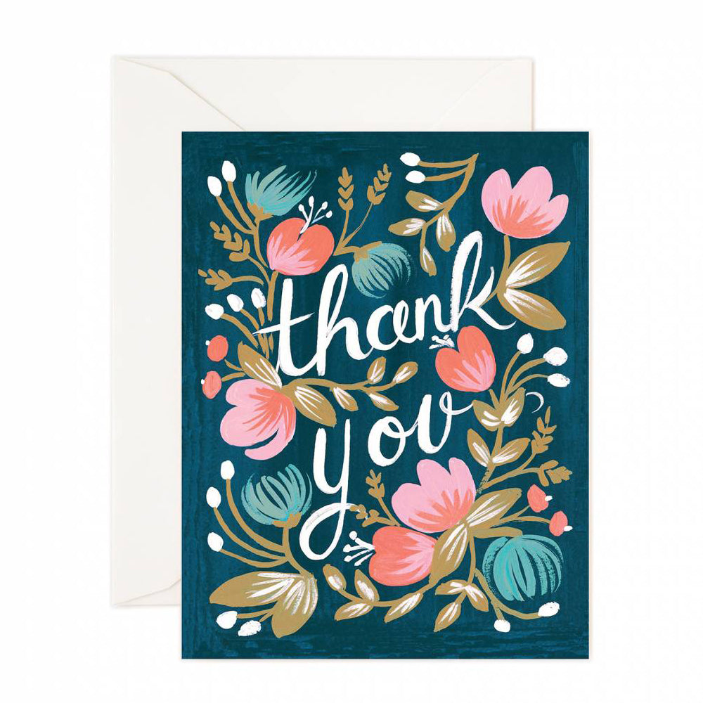 Rifle Paper Co. Midnight Garden Thank You Card