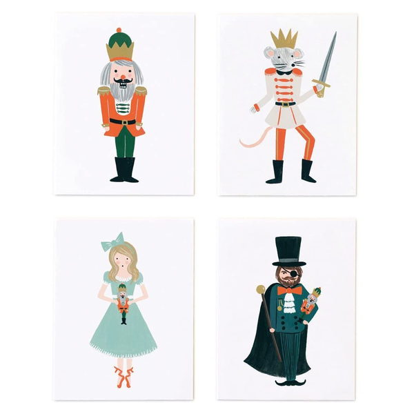 Rifle Paper Co. ASSORTED Nutcracker Christmas CARD SET