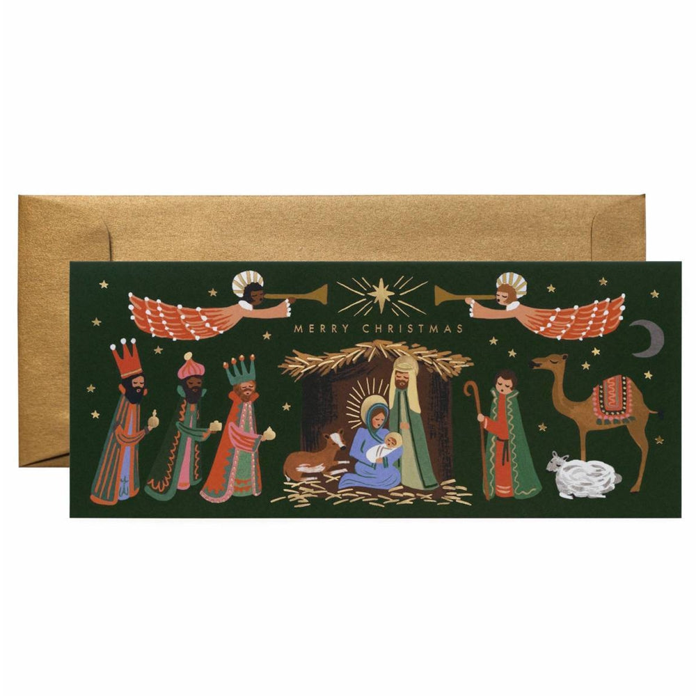 Rifle Paper Co. Holiday Nativity Christmas Card SET