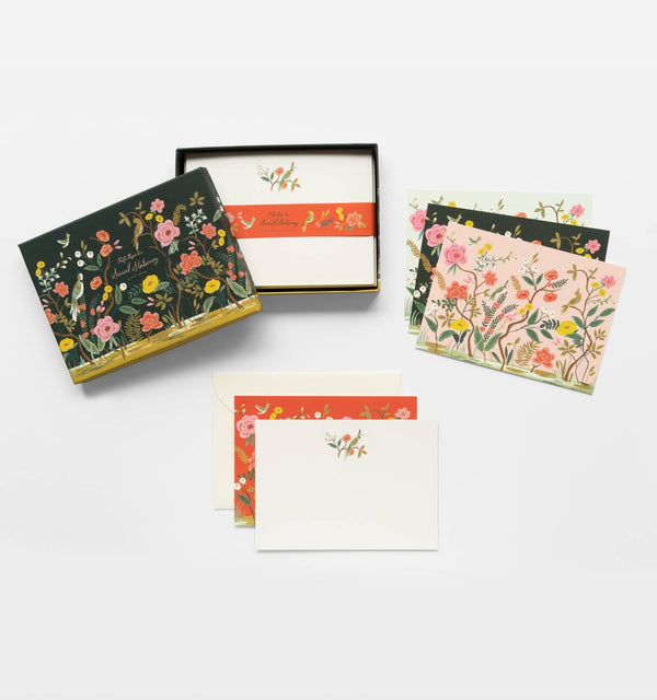 SLIGHT SECONDS Rifle Paper Co. Shanghai Garden Social Stationery Set