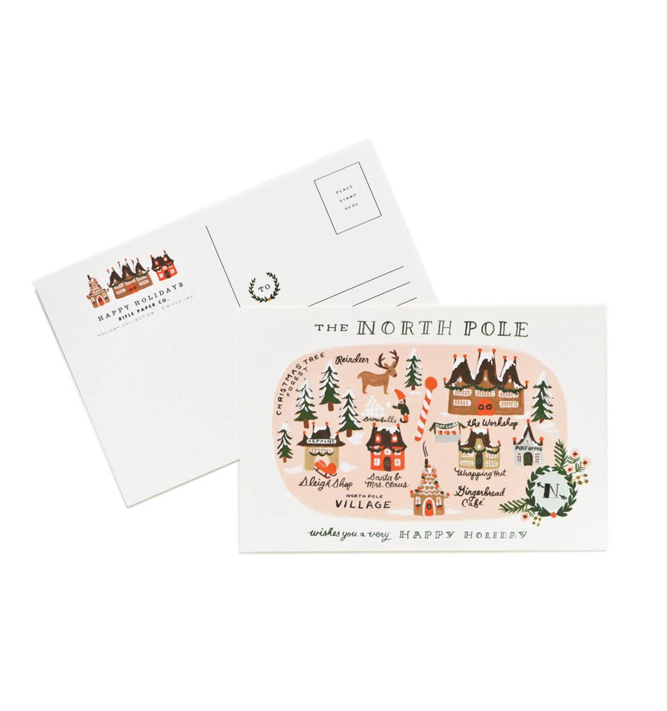 Rifle Paper Co. North Pole Map Postcards