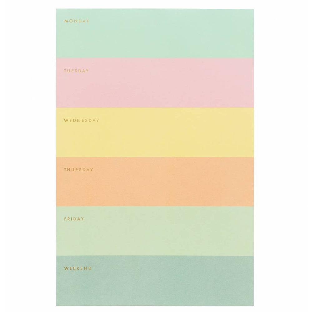 Rifle Paper Co. Colour Block Weekly Memo Pad