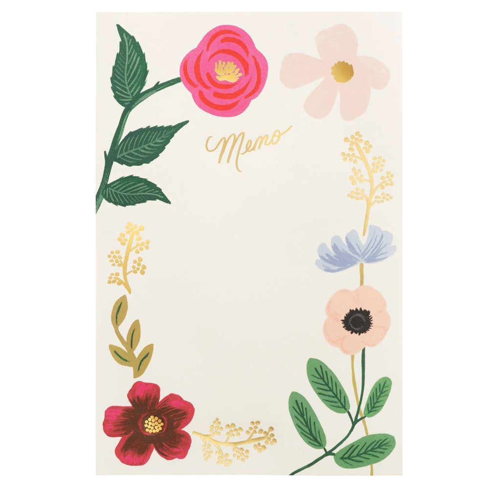 Rifle Paper Co. Wildflowers Tear-Off Memo Notepad