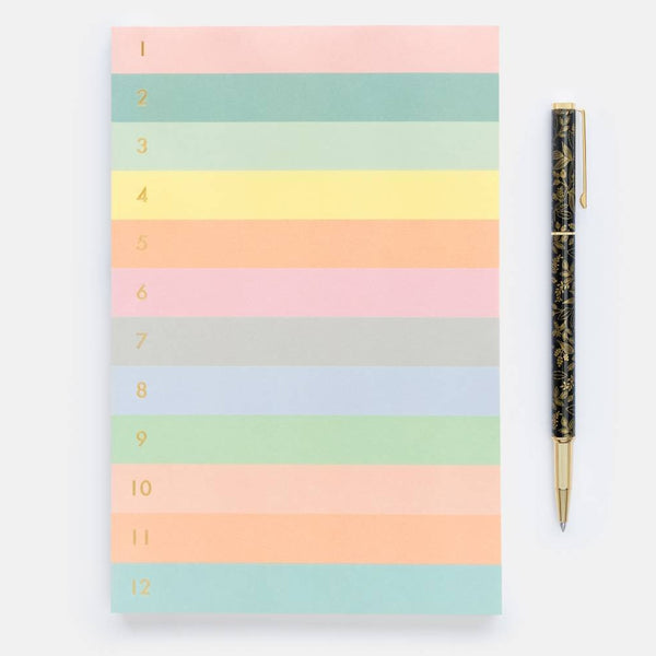 Rifle Paper Co. Numbered colour block Memo Notepad