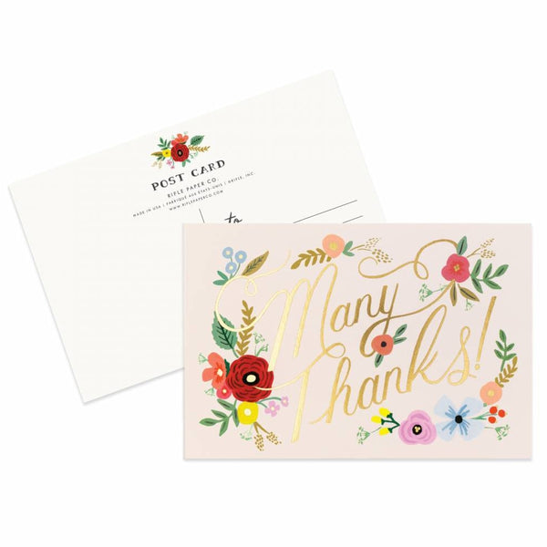 Rifle Paper Co. Bouquet Thanks Postcards