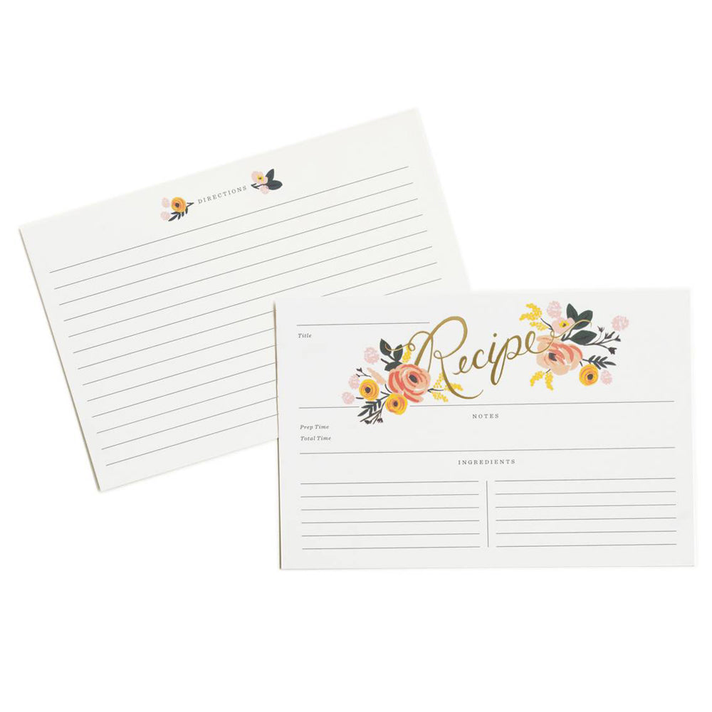 Rifle Paper Co. Peony Recipe Cards (Pack of 12)