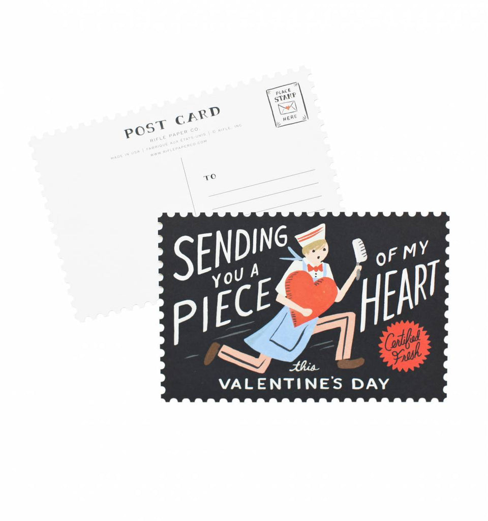 Rifle Paper Co. Pack of 10 Piece of My Heart Postcard Set