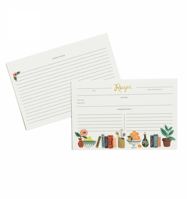 Rifle Paper Co. Kitchen Shelf Recipe Cards (Pack of 12)