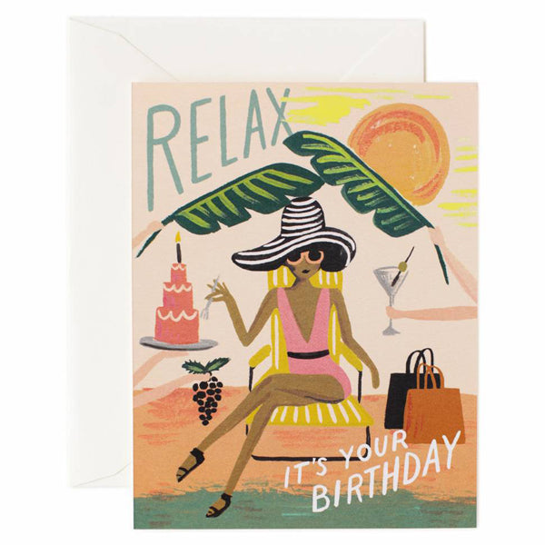 Rifle Paper Co. Relax Birthday Card