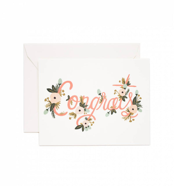 Rifle Paper Co. Congrats Floral Card