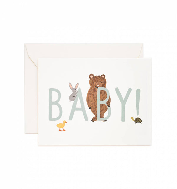Rifle Paper Co. Baby! Mint Greeting Card