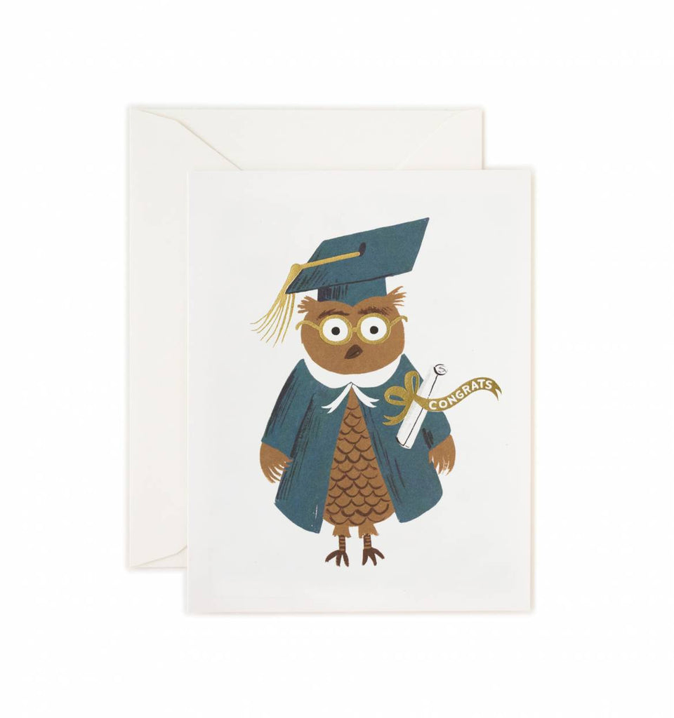 Rifle Paper Co. Congrats Owl Greeting Card
