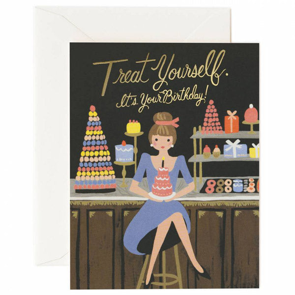 Rifle Paper Co. Treat Yourself Card
