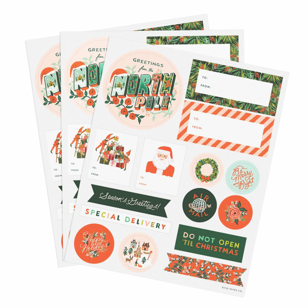 Rifle Paper Co. Season's Greetings Holiday Stickers & Labels