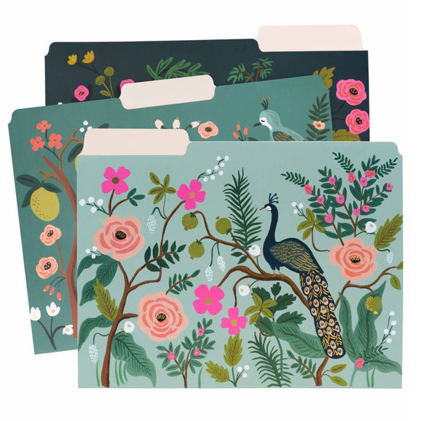 Rifle Paper Co. Assorted File Folders - Shanghai Garden